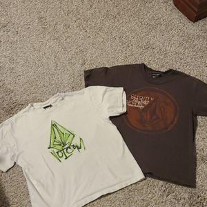 2 Medium Boys Volcom T Shirts